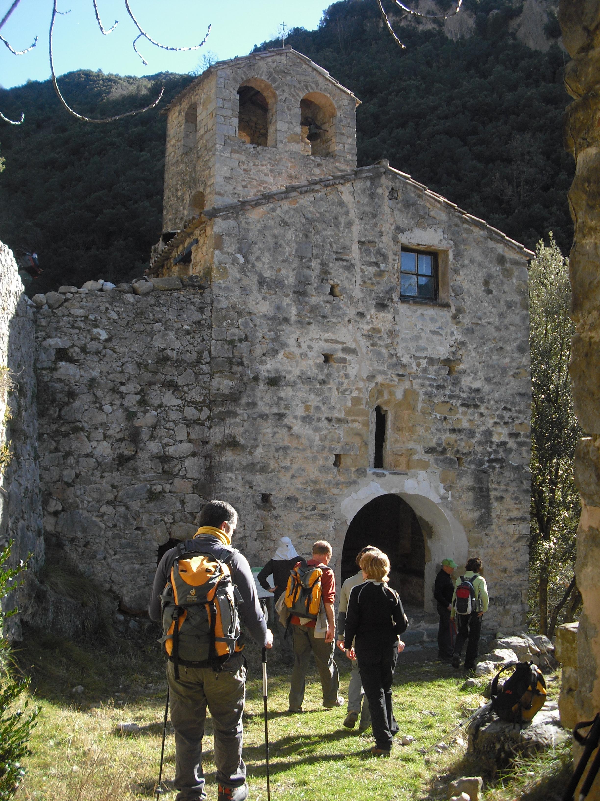 Arrivant a Santa Maria d'Escales