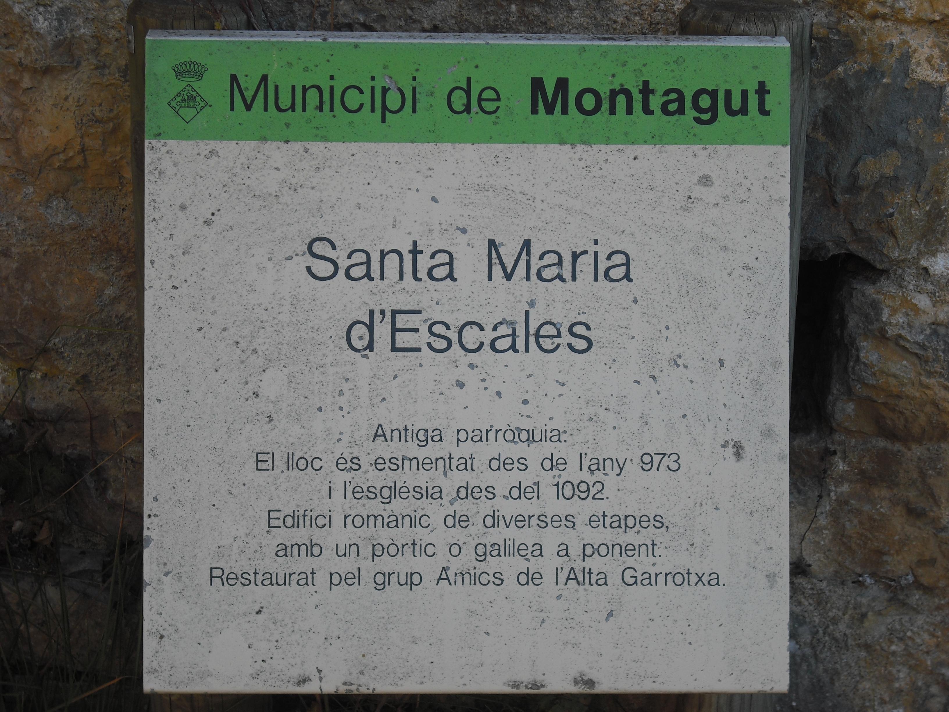 Cartell informatiu de Santa Maria d'Escales