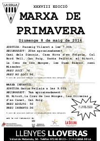 CARTELL MARXA de PRIMAVERA 2016
